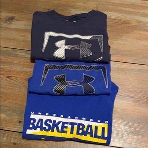 Boys Under Armour tee shirt bundle